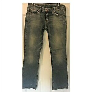 Lucky Brand Lola Distressed Bootcut Jeans 6 Tall